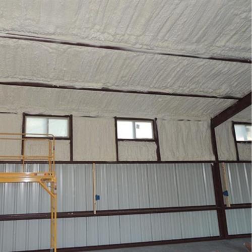 Spray Foam on Metal Building
