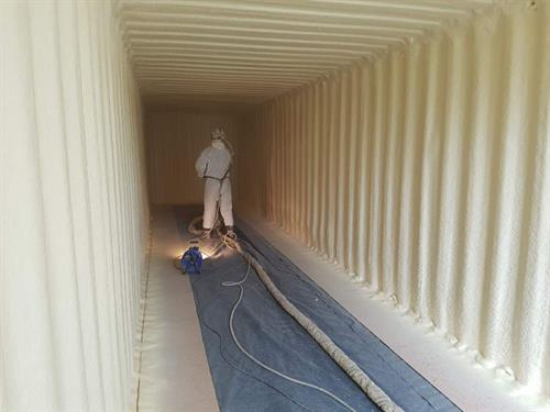 Spray Foam in Shipping Containers
