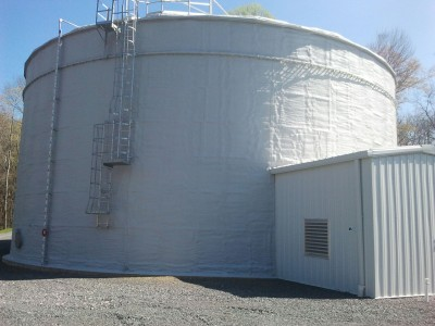 Spray Foam Insulating Tanks