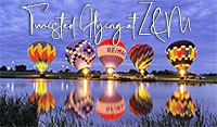 Twisted Flying Hot Air Balloon Glow at Z&M Twisted Vineyard