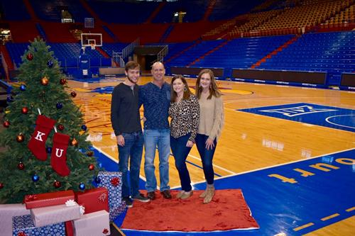 Holiday Photos in Allen Fieldhouse