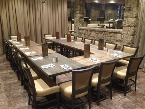 Private Group Space for parties of 10-50 guests