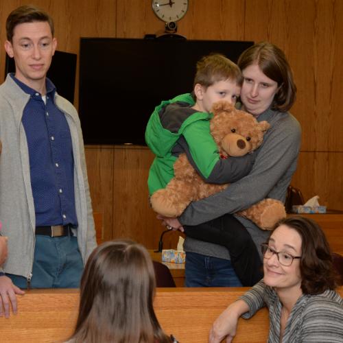 CASA Coordinator, CASA, and child