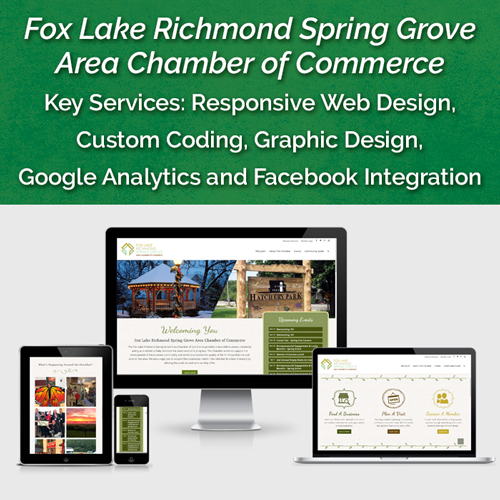 Website for Fox Lake Richmond Spring Grove Area Chamber of Commerce, Richmond, IL