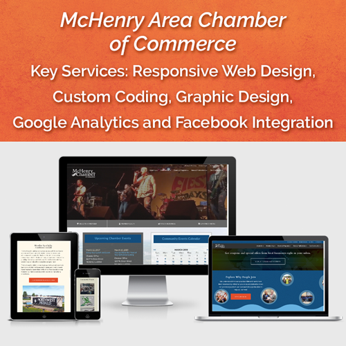 Website for McHenry Area Chamber of Commerce, McHenry, IL