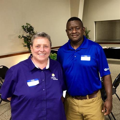 Employees Karen Mullins and Reggie Walton attending Chamber's Annual Banquet