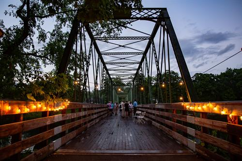 Hudson Crossing Park offers special events and programs all year round, such as Banquet By the Bridge (pictured).