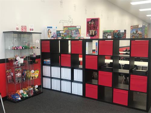Student Binders and Rewards Area