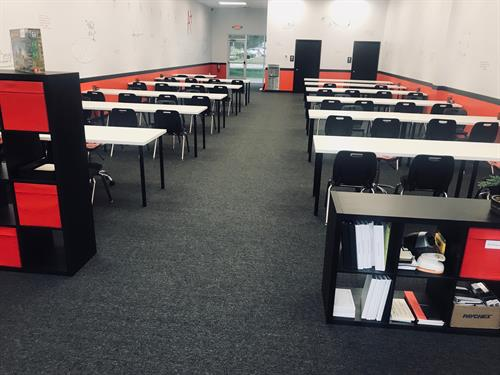 Student Desks and Tutoring Area