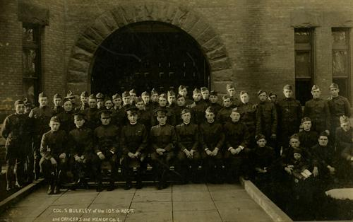 New York National Guard unit-Saratoga Springs armory, circa 1917