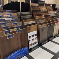 Some of our many hardwood flooring displays