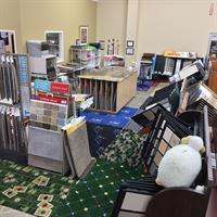 More of our carpeting department, along with a play area for the kids.