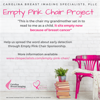 Empty Pink Chair Project - Reserve your chair today!