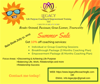 Legacy Life Purpose Coaching & Empowerment Training LLC - Wilson