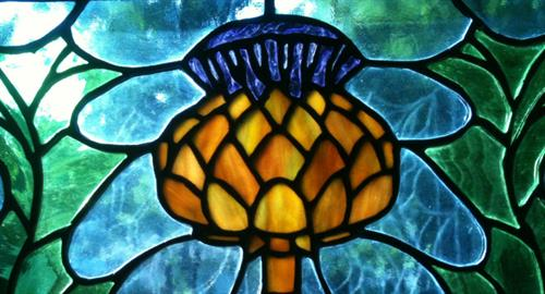 Stained Glass Thistle