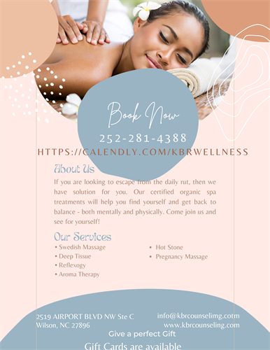 Our Massage therapist Yvonne Mitchell has over 10 years experience.