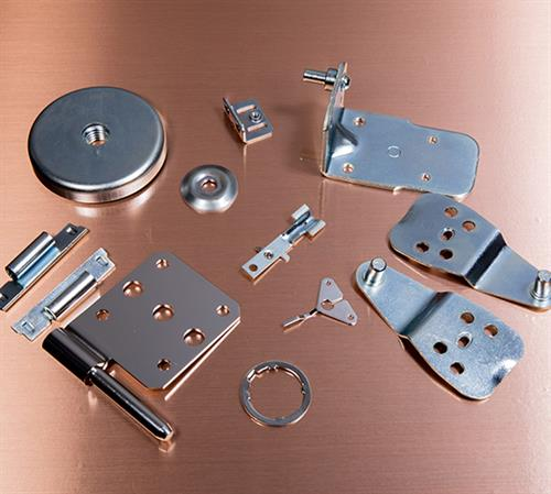 Array of metal formed parts