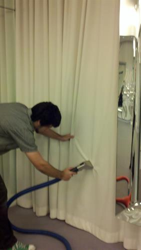 Commercial Drapery Onsite Cleaning