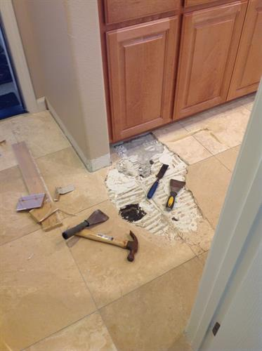 Natural Stoner Tile Repair Before