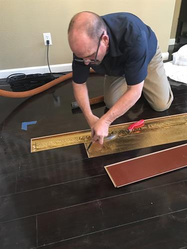 Hardwood Floor Plank Repair