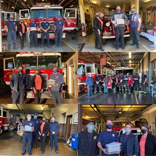 Rotary feeding firemen throughout the county holiday meals after an insane wildfire year.