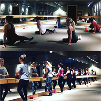 Pure Barre is a 55-Minute Full-Body Workout using a Ballet Barre for balance.
