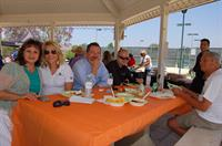 A small group of us at picnic for one of our referral partners