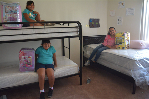 Today, there are over 90,000 children sleeping on the floor, the couch, or sharing a bed with siblings. We purchase bunk beds for children who needs bed--complete with their very own bedding that they get to pick out and purchase with a gift card.