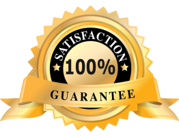 We Guarantee 100% Satisfaction