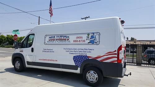 Our awsome Plumbing vans equipped and ready to service you
