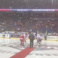 Mike Gaumer Nite @ the Ontario Reign - Dropping the Puck!