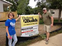 Thrivent Builds with Habitat for Humanity, Local Build - Portage County 2013