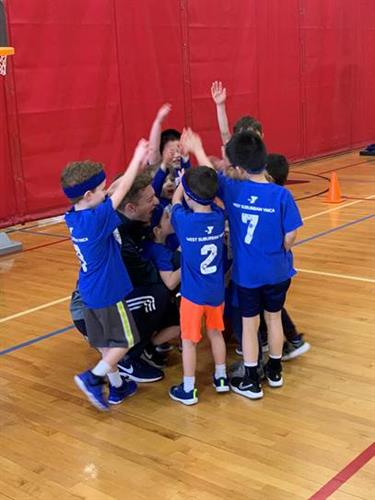 Teamwork on display during YBA (Youth Basketball Association league)