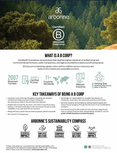 B Corporation status puts people and planet over profits.
