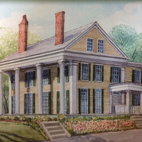 Nathaniel Allen House (watercolor by John Coles)