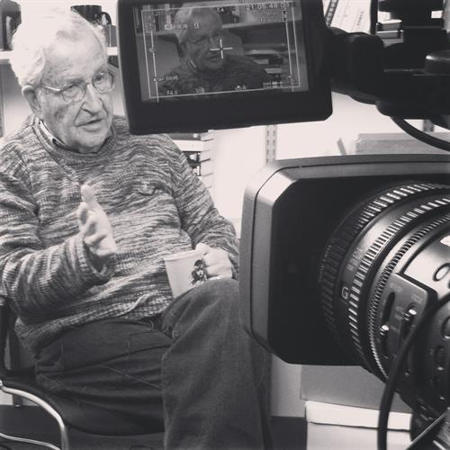 Our shoot with Noam Chomsky