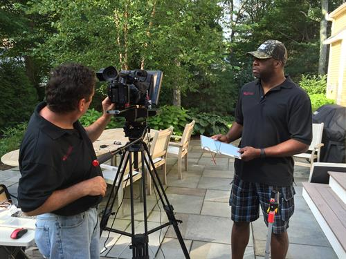 BTS shot of crewwith Natureworks Landscaping
