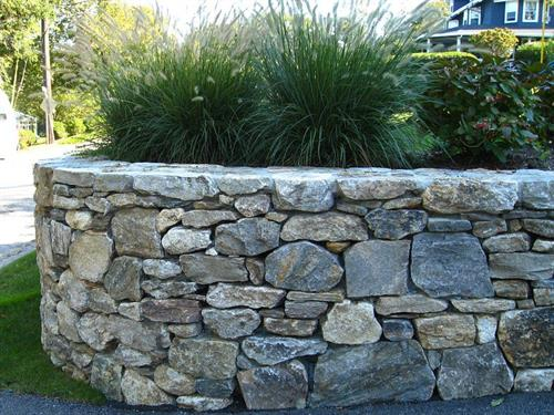 Pennsylvania Natural Stone Retaining Wall.