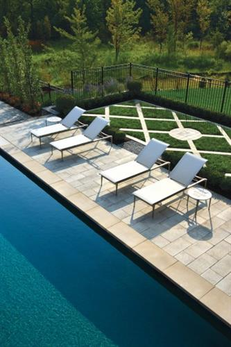 Unilock Natural Stone Pool Patio.