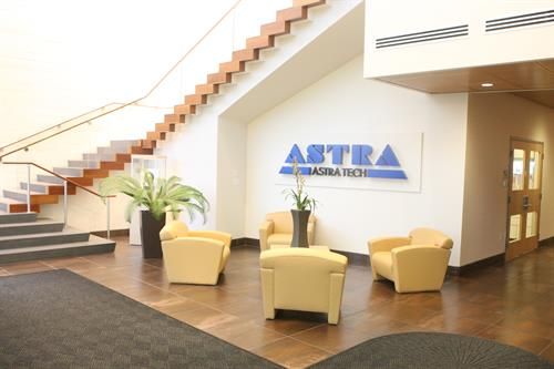 Astra Zeneca Medical Devices Division lobby, Waltham MA