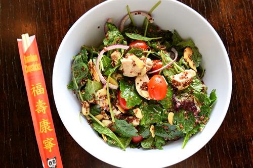 Baby Kale and Tea Poached Chicken Salad