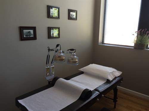 One of our beautiful treatment rooms.