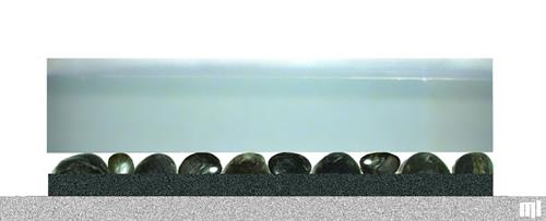 Furniture; River Slice Glass Table