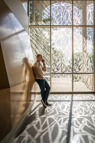 Fritted glass design, Lee Davis Library, San Jacinto Lollege Client: GENSLER, Houston, TX
