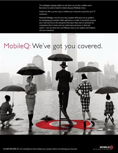 Brand Visual Identity/Advertising; Client: MobileQ