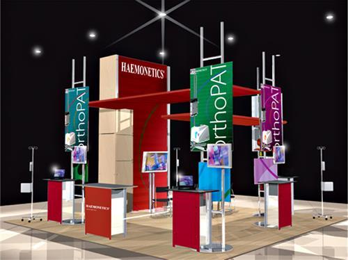 Trade Show Installation; Client: Haemonetics