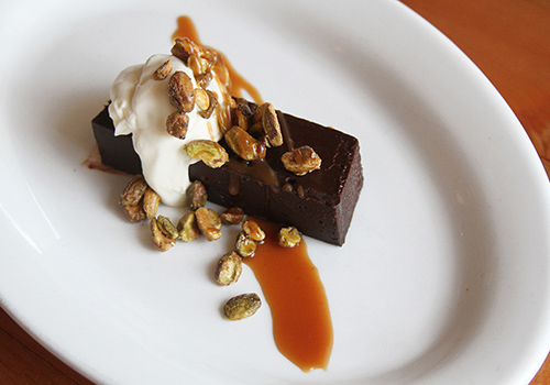 You'll always find a delicious chocolate dessert on our menu.
