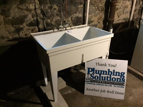 Everyone needs a utility sink in the basement. It is perfect for all of those household crafts that are too messy for any other sink.