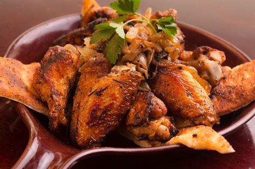 Our Famous Coal Oven Roasted Chicken Wings