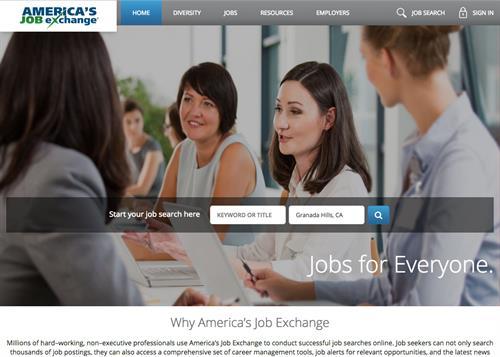 America's Job Exchange Website Redesign